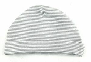Carter's Hat Infant Hat Size 6 Months Unisex Gray and White Striped Casual