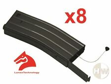 AIRSOFT M4 SERIES METAL BLACK LONEX FLASH MAGAZINE MAG 360RDS ASG x8 PULL CORD