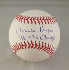 Charlie Hayes Autographed Signed Baseball New York Yankees JSA