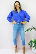 Maglie e camicie vintage da donna blu originale
