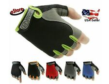 Women Men Sport Cycling Fitness GYM Workout Exercise Half Finger Gloves Bike NEW