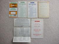 Southdown Bus Timetable Alteration leaflets etc x 6 1965-68 (Hampshire / Sussex)