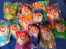 1998 Lot of McDonalds Ty Beanie Babies - Complete Un-Opened set of 1-12