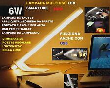Lampada Led da tavolo Regolabile USB , da macchina portatile