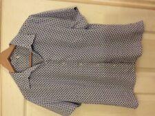 Dimensions work wear ladies s/sleeve blouse circular print size Uk 16