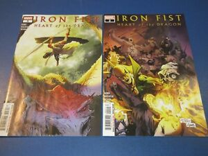 Iron Fist Heart of the Dragon #2,3 lot of 2 NM-/NM