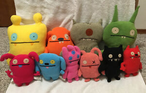 HUGE LOT OF 10 UGLY DOLL UGLYDOLL PLUSHES PLUSH STUFFED ANIMAL TOYS SEE PHOTOS!!