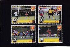 PAPUA NEW GUINEA  2004 Centenary of FIFA  Soccer FOOTBALL set of 4 - MNH