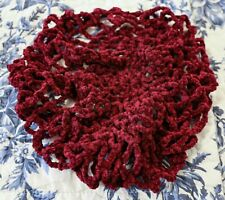 Burgundy Chenille Hairnet