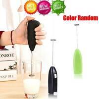 Elektrische Mixer Milchaufschäumer Handheld Schneebesen Kaffee Creme Foamer DE