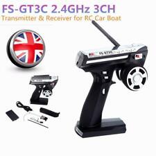 Flysky FS-GT3C 2.4G 3CH Radio Remote Control LCD RC Transmitter & Receiver UK