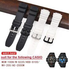 Correa de reloj compatible para Casio MCW-100H/110 H/W-S220/HDD-S100