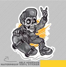 Skater skull Boy Skateboard Vinyl Sticker Decal Window Car Van Bike 2413
