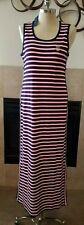Tommy Hilfiger Women's Striped Side Button Maxi Polo Dress Sz L Thespot917