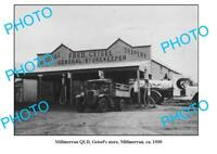 OLD 6 x 4 PHOTO OF MILLMERRAN STORE c1930 QLD PLUME TRUCK & PETROL BOWSER