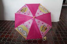 Regenschirm Minions in Rosa für Kinder Despicable Me Kinderregenschirm Neuware