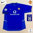 Original Manchester United Football Shirt SCHOLES 2002 MINT vintage Nike