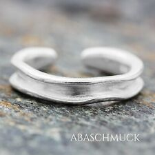 Silberring Silber 925 Ring  Verstellbar Offen R0776 🐾 edel, modern, schmal,