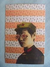 POSTCARD..MISS RED GUARD.CHINESE RED ARMY.POLITICAL POP PROPAGANDA..MAO TSE-TUNG