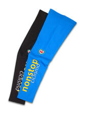 NONSTOP CICLISMO Warm Fleece Cycling Leg Warmers by Pissei BLUE/BLACK SMALL