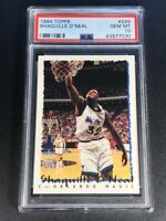 SHAQUILLE O'NEAL SHAQ 1994 TOPPS #362 EARLY BASE CARD PSA 10 NBA HALL OF FAMER