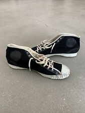 Vintage Ww2 Buddy Military Hi-Top Black Canvas Sneakers Size 10.5 Dated 1943 Nos