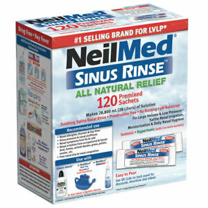 NeilMed Sinus Rinse Refill 120 Premixed Sachets Soothing Saline Nasal Rinse