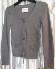 Nice  **Aeropostale** Girls Gray Button-Down,Tie Waist,Long Sleeve Sweater,Med.