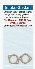 Magnum / ASP 70 FS Four Stroke Intake Manifold Gasket 2 Pack-NIP