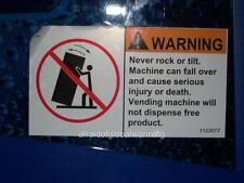Old Photo. Vending Machine Warning - No Free Products