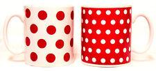 Punti rossi e macchie Tazze Set di 2 ROSSA E BIANCA TAZZE PORCELLANA DECORATA CON Regno Unito