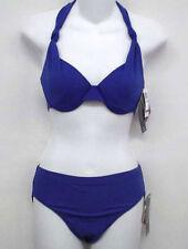 BE CREATIVE Blue Underwire Bikini Swimsuit 8 Cup B