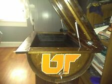 Handmade and handcrafted UT whiskey barrel and cooler table. Made to order.
