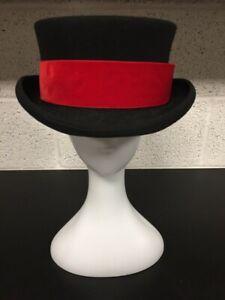 Euro Accessories 100% Wool Top Hat - Wedding Formal Victorian Vintage Style - XL