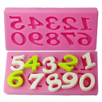 2X Number 0-9 Silicone Cake Mold Fondant Chocolate Sugar Mould Kitchen&L