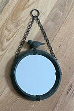 "Very Rare 7"" Round accent Mackenzie Childs bird mirror, never used. Set of 3."