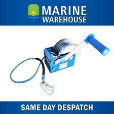 Winch 5:1 Blue W/ High Tensile Winch Rope - 800KG Lift  for Boat Tinny 604014