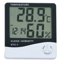 Thermometer Indoor Digital LCD Temperature Humidity Meter Alarm Clock Indoor UP