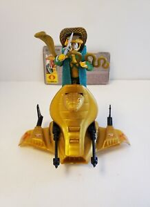 GI Joe 1986 Cobra Serpentor & Air Chariot 100% COMPLETE w/ Filecard