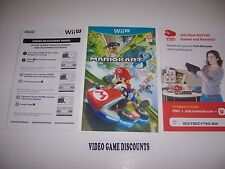 Mario Kart 8 for Wiiu Wii U Instructions Manual Booklet - NO GAME INCLUDED