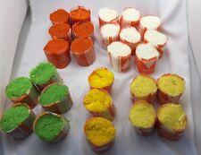 Bucilla Lot of 25 Sleeves Mix Pre Cut Rug Yard White Orange Yellow Green