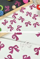 Woo 50PCS Glitter Padded Sewing Scrapbooking Craft Hair Bow Butterfly Appliques