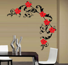 Decorative Floral Wall Stickers / Wall Decals 3 Sizes