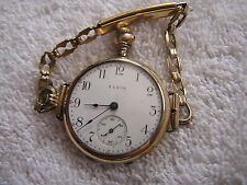 Antique Elgin Ladies Women's Pocket Watch Converted To Wristwatch Beautiful
