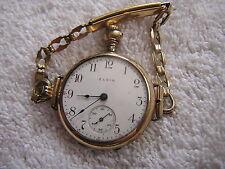 Antique Elgin Ladies Women's Pocket Watch Converted To Wristwatch Beautiful