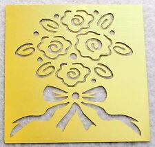 PLAID Flower Bouquet Brass Stencil NEW Template Airbush Scrapbook Emboss B51