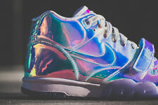 NIKE AIR TRAINER 1 SUPER BOWL SILVER US UK 11 12 QS 607081-900 IRIDESCENT SILVER