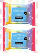 2 Neutrogena Makeup Remover Wipes Face Facial Cleansing Towelettes Pride 25ct