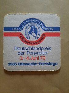 Bierdeckel 1979 - Ponyreiter - Edewecht - Portsloge - Jever