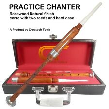 Createch Scottish Highland BagPipe Practice Chanter, Carrying case & Reeds